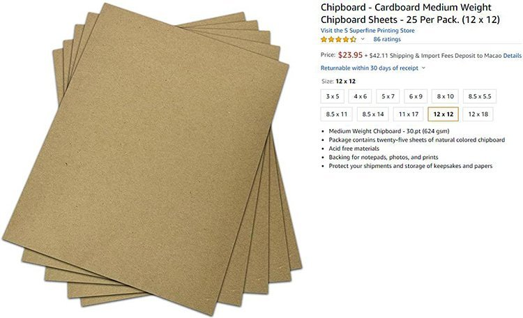 Paperboard-Sheets-Cost