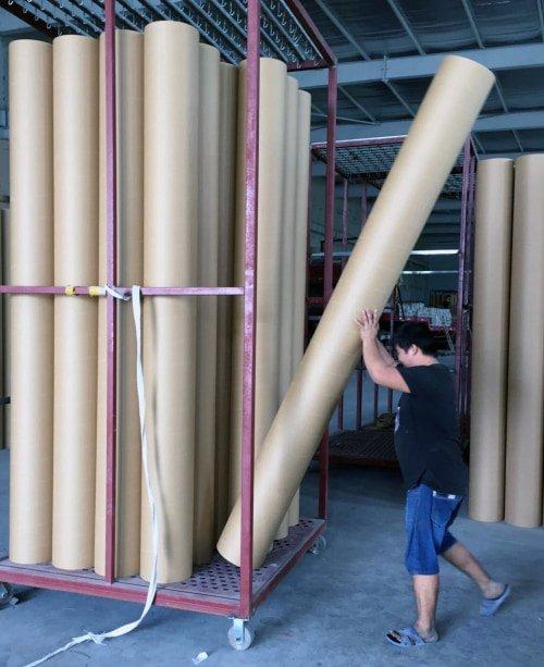 Paper-tube-loading