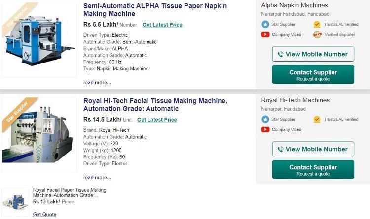 Facial-tissue-paper-making-machine-price-in-India