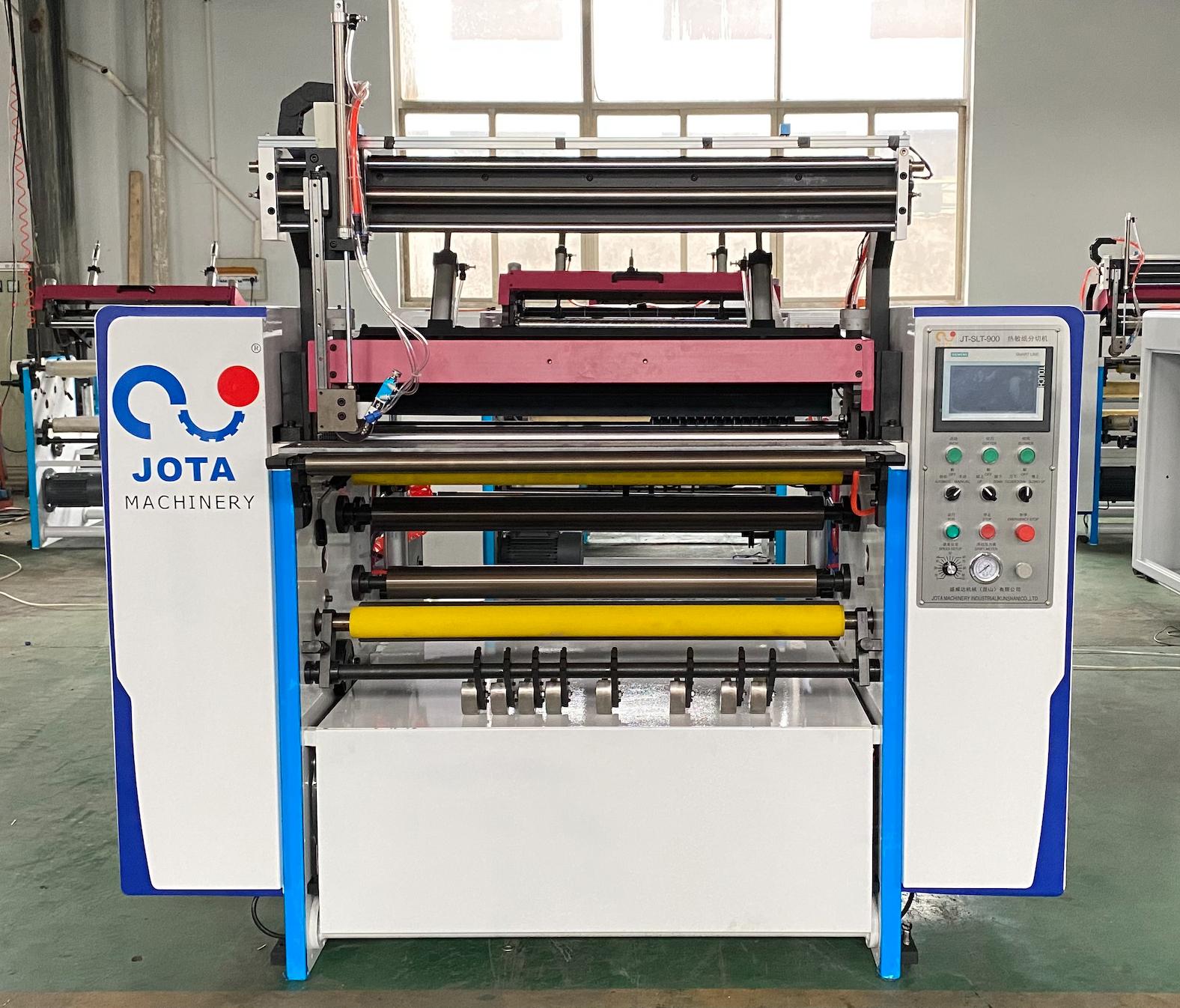 Thermal paper roll slitting machine 1